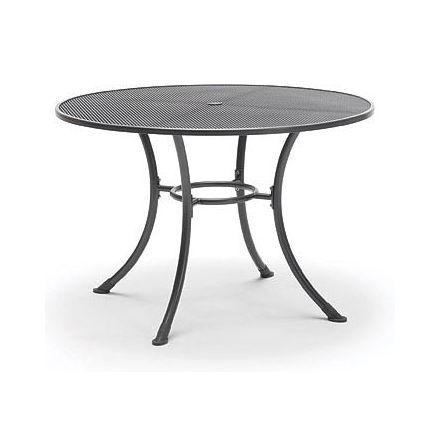 Streckmetall Tisch Classic Ø 110cm eisengrau