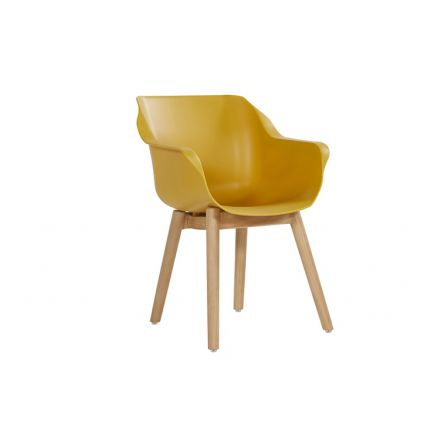 Sophie Studio Teak Armchair curry yellow