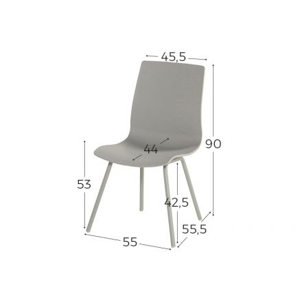 Sophie Rondo Wave Dining Chair misty grey