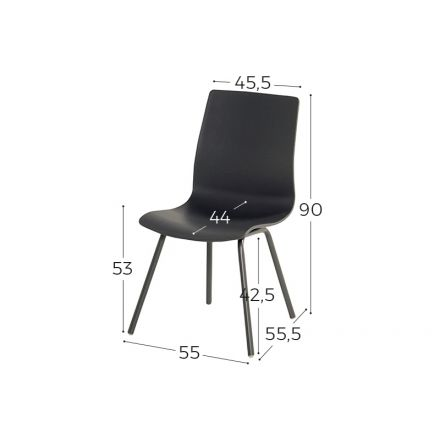 Sophie Rondo Wave Dining Chair xerix