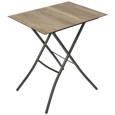 HPL-Klapptisch 50x70cm - Holz-Dekor
