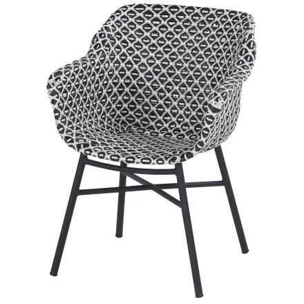 Delphine Dining Chair white-black