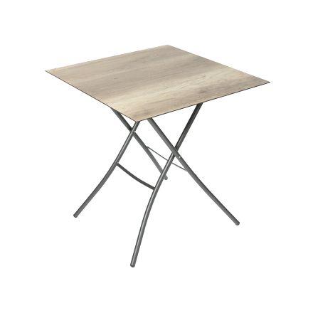 HPL Klapptisch 70x70cm - Holz-Dekor