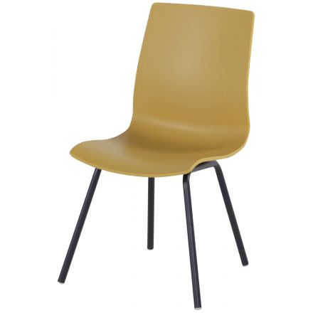 Sophie Rondo Wave Dining Chair curry yellow