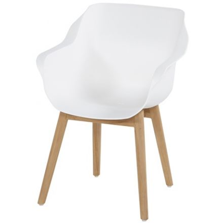 Sophie Studio Teak Armchair  royal white